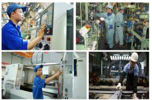 Công xưởng Đài Loan – Thao tác máy hàn điện tại nhà máy Chấn Bang