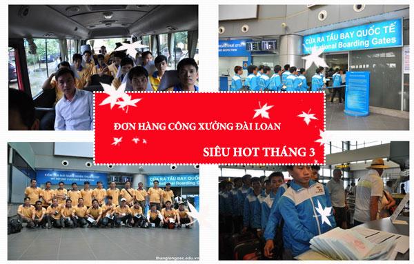 Đơn hàng công xưởng Đài Loan tháng 3