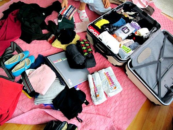 Những đồ được mang và không được mang