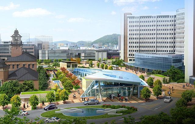 Khuôn viên trường Đại học quốc gia Seoul Hàn Quốc