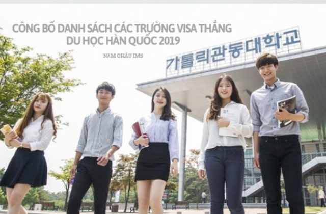 Danh sách trường visa thẳng hàn quốc