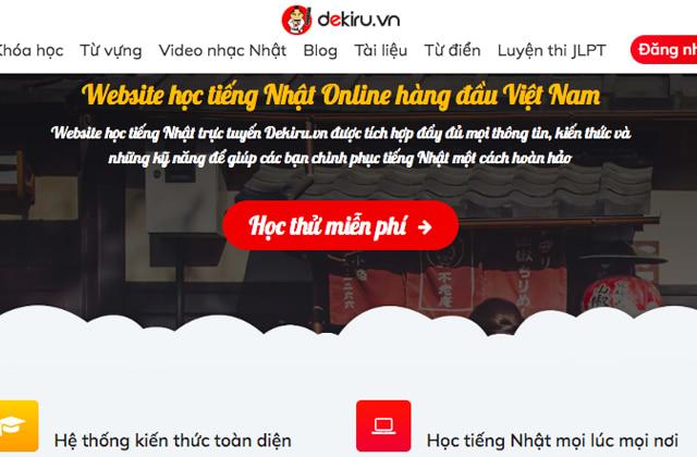 trang web học tiếng nhật trực tuyến Dekiru
