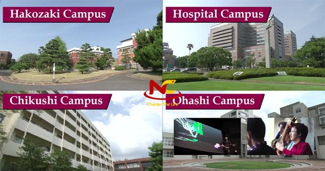 Campus trường đại học Kyushu
