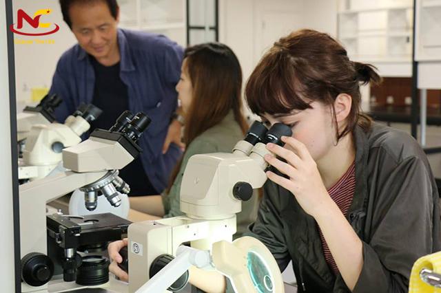 Học sinh học tập và nghiên cứu tại trường Đại học Tsukuba