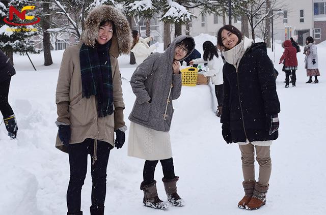 Kỳ nghỉ đông của du học sinh Nhật