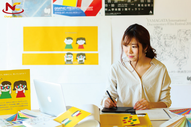 Sinh viên du học ngành thiết kế đồ họa ở Nhật Bản