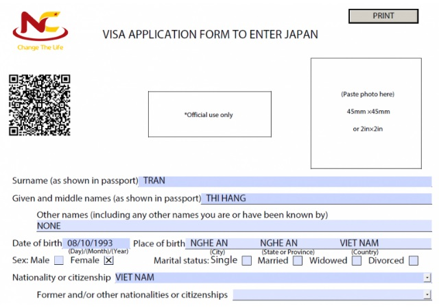 hướng dẫn kiểm tra đơn xin visa Nhật Bản
