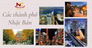 Các thành phố Nhật Bản tạo nên sự ấn tượng cho du học sinh quốc tế