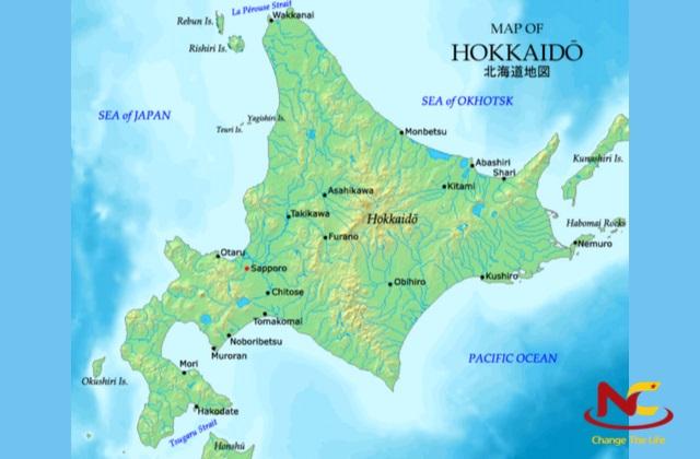 Bản đồ Nhật Bản vùng Hokkaido