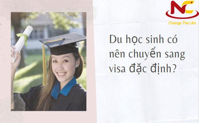 Visa đặc định cho du học sinh