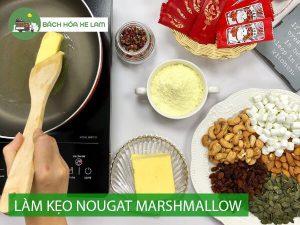 Cách làm kẹo Nougat đơn giản với marshmallow, cực thơm và ngon